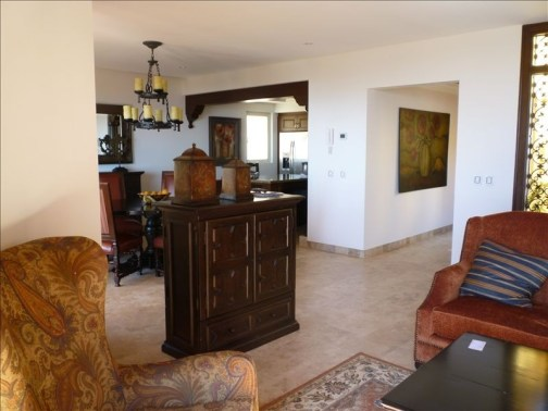 living space Pueblo Bonito Montecristo Estates offers spectacular ocean views of the pacific ocean in cabo san lucas, overlooking quivira golf club