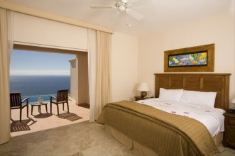 master bedroom Pueblo Bonito Montecristo Estates offers spectacular ocean views of the pacific ocean in cabo san lucas, overlooking quivira golf club