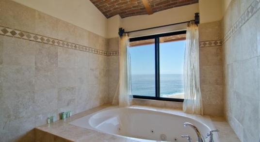 Casa Mega point is one of los cabos most sought after luxury vacation villas for bachelor parties tub with a view