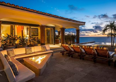 casa theodore in Pedregal los cabos luxury vacation villas cabo san lucas fire pit