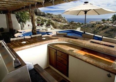 villa del toro rojo pedregal cabo san lucas luxury villa rentals in los cabos outdoor kitchen