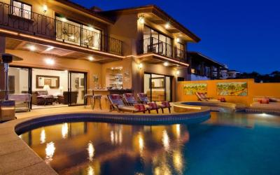 casa mega point luxury vacation rental villa in pedregal cabo san lucas mexico has a private club