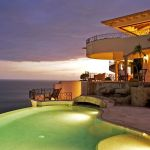 villa la roca pedregal cabo san lucas luxury villa rentals in los cabos evening by the pool