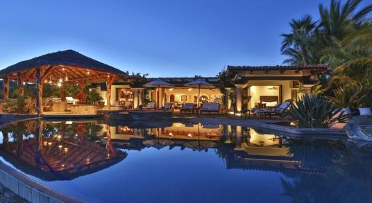 villa damiana los cabos luxury vacation rentals cabo san lucas Pool view at night