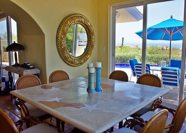 Dining area Casa Stamm in Cabo del Sol, Cabo San Lucas Luxury Villa Rentals