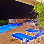 Pool Deck in the evening at Casa Stamm in Cabo del Sol, Cabo San Lucas Luxury Villa Rentals