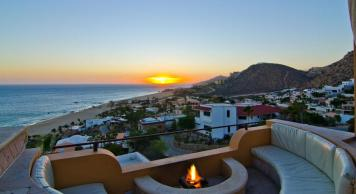 Casa Mega point is one of los cabos most sought after luxury vacation villas for bachelor parties fire pit