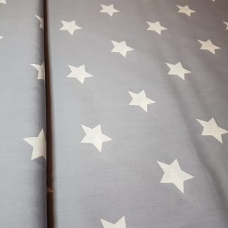 Grey Stars Smooth Light Weight Cotton Fabric