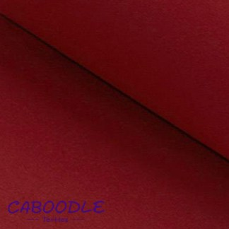 Dark Red Ribbing Stretch fabric for cuffs and waistbands
