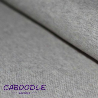 Light Grey Flecked Ribbing Stretch fabric for cuffs and waistbands