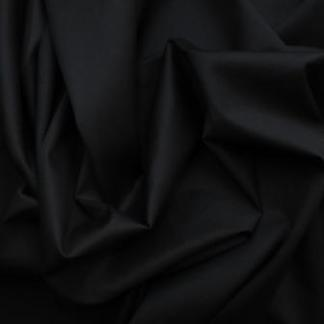 Black Jardin Stretch Cotton Sateen Fabric