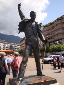 Die Mercury-Statue in Montreux