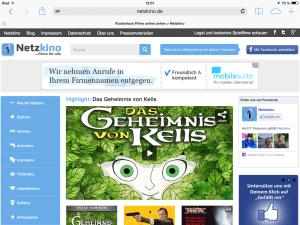 Bietet legal kostenlose Filme im Internet: Die Website netzkino.de (Screenshot netzkino.de)