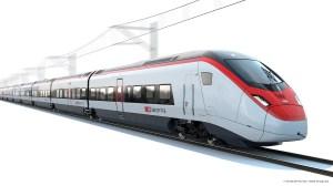Designskizze des Siegers der BeNe-Ausschreibung: EC250 von Stadler Rail (Copyright ©SBBCFFFFS/Stadler Rail Group)