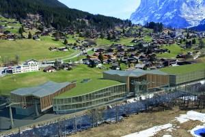 Die geplante Talstation der V-Bahn in Grindelwald Grund (Visualisierung Jungfraubahnen Holding ©GGM/Jungfraubahnen Holding