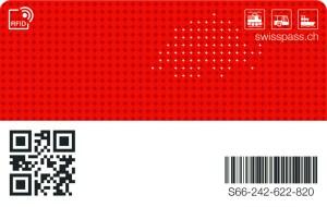 Mithilfe dieses QR-Codes (unten links) erhält das Lesegerät Zugriff auf den RFID-Chip
