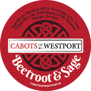 beetroot and sage dip label