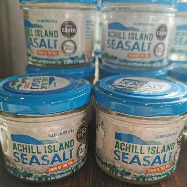 achill island sea salt jars