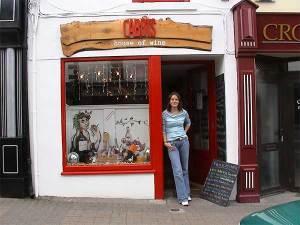 girl outside cabots restaurant