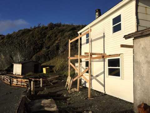 Work Continues on Base Camp at Back Cove, North Arm, Bay of Islands