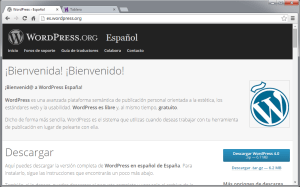 Sitio de WordPress