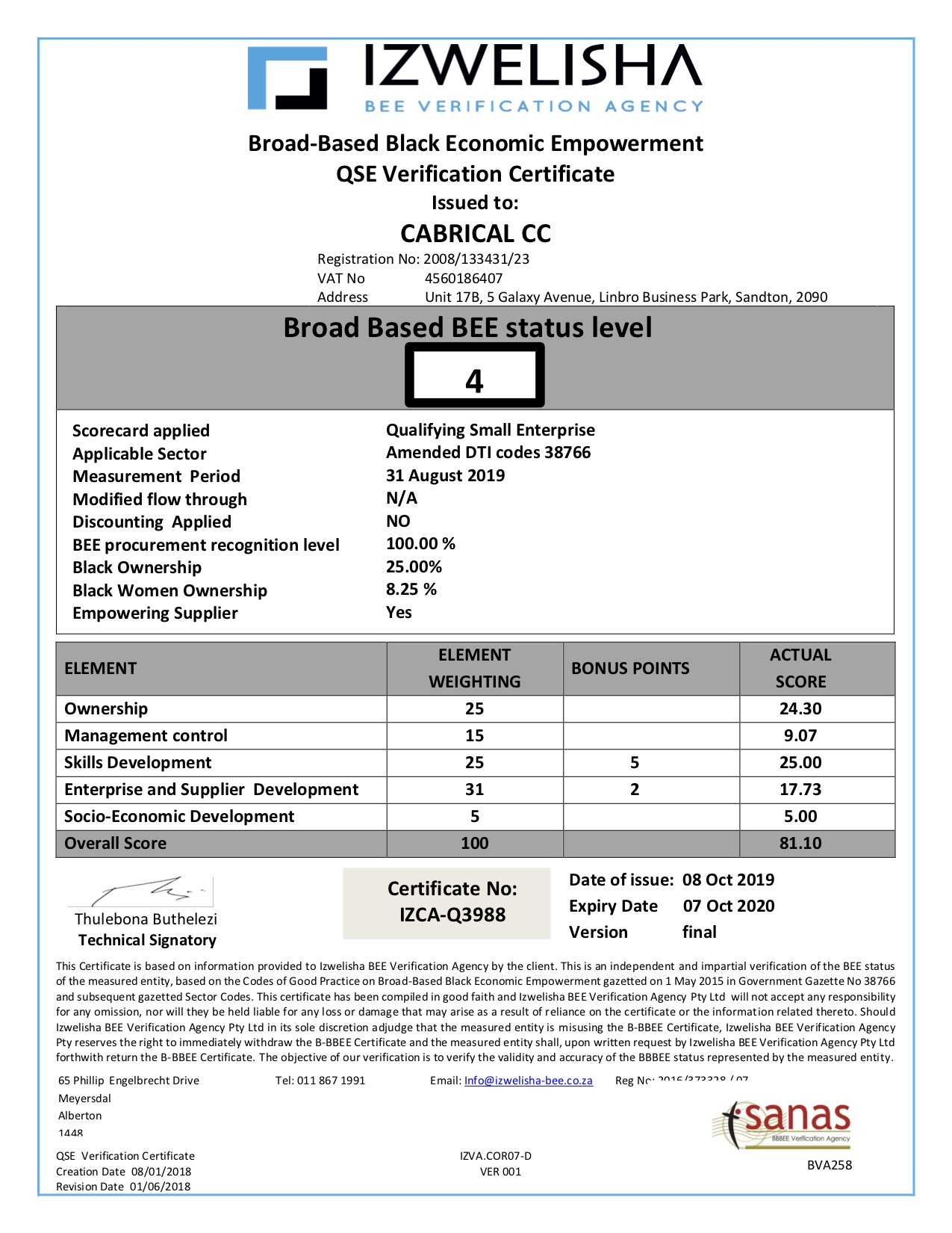 BEE Certificate - Cabrical cc (JPEG)