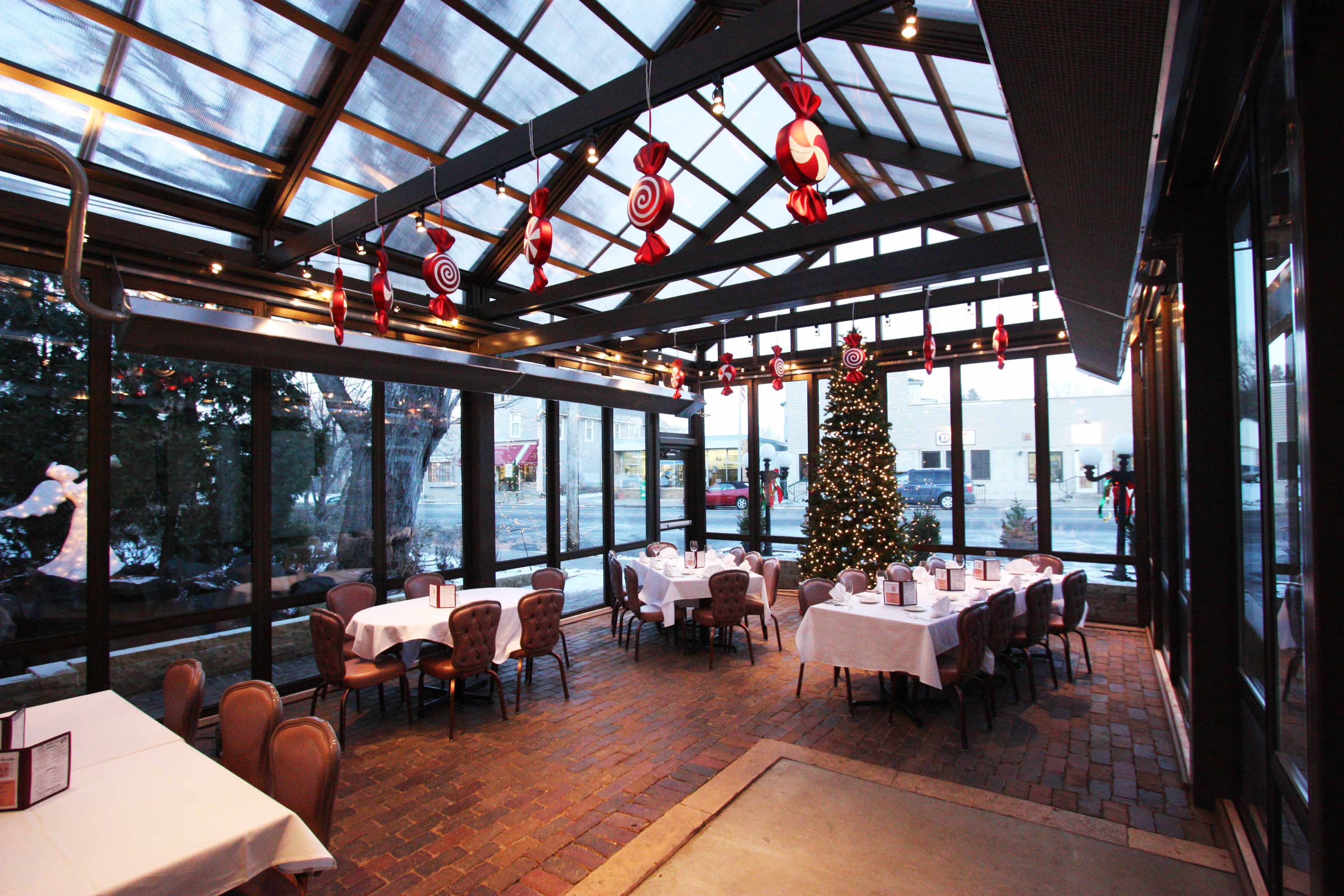 Cabrio Structures - holiday theme outdoor patio with a retractable structure