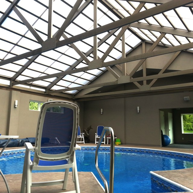 4-season Pool Cabrio Structures -Ispiri - Indoor(closed) square