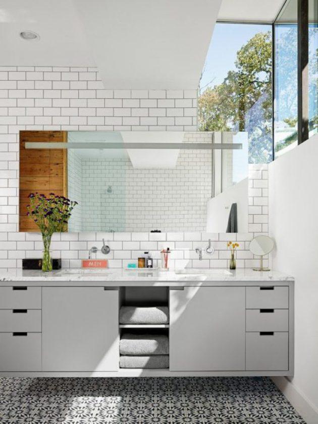 Bathroom Mirror Ideas - A Single Large Mirror 1 - Cabritonyc.com