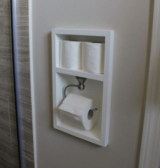 Bathroom Storage Ideas - A Shadow Box for Toilet Paper - Cabritonyc.com