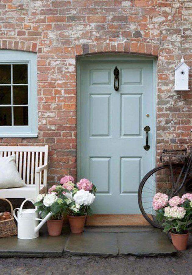 Front Door Flower Pots Ideas - Springtime Hydrangea Front Porch Pots - Cabritonyc.com