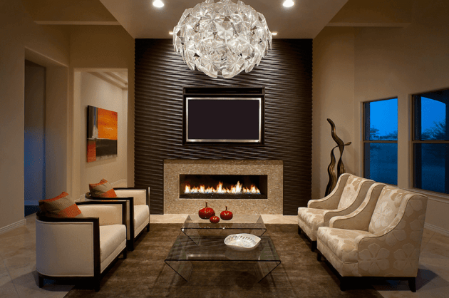 Accent Wall Ideas - Textured Living Room - Cabritonyc.com