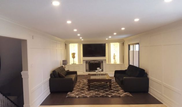 Low Basement Ceiling Ideas - Remove crown molding (or keep it very thin) - Cabritonyc.com