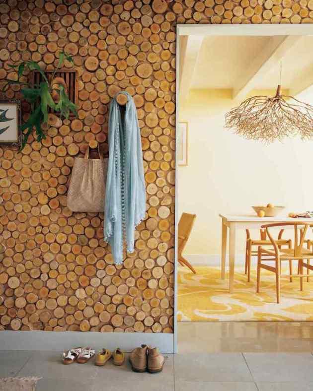 Accent Wall Ideas - Wood Rings - Cabritonyc.com