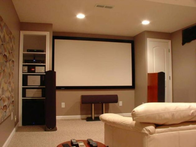 Low Basement Ceiling Ideas - Paint the ceiling color down onto the walls - Cabritonyc.com