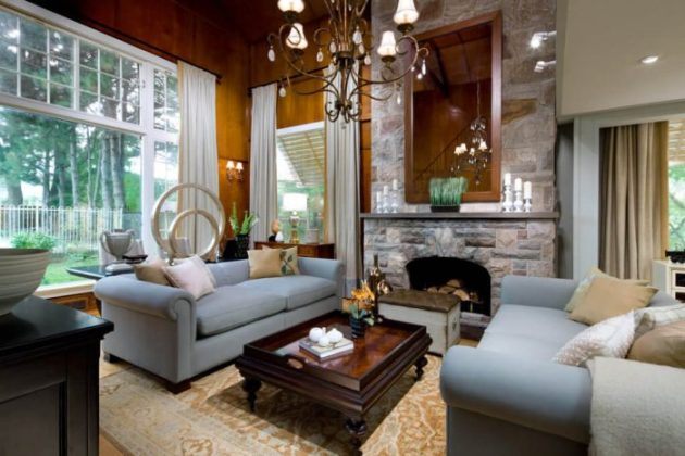 Rustic Chic Living Rooms Ideas - Dark Cherry Rustic Home Stead - Cabritonyc.com