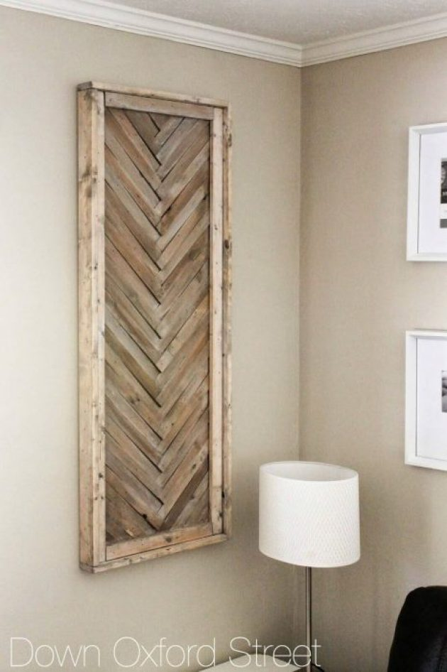 Rustic Wall Decor Ideas - Multi-toned Wooden Chevron Wall Hanging - Cabritonyc.com