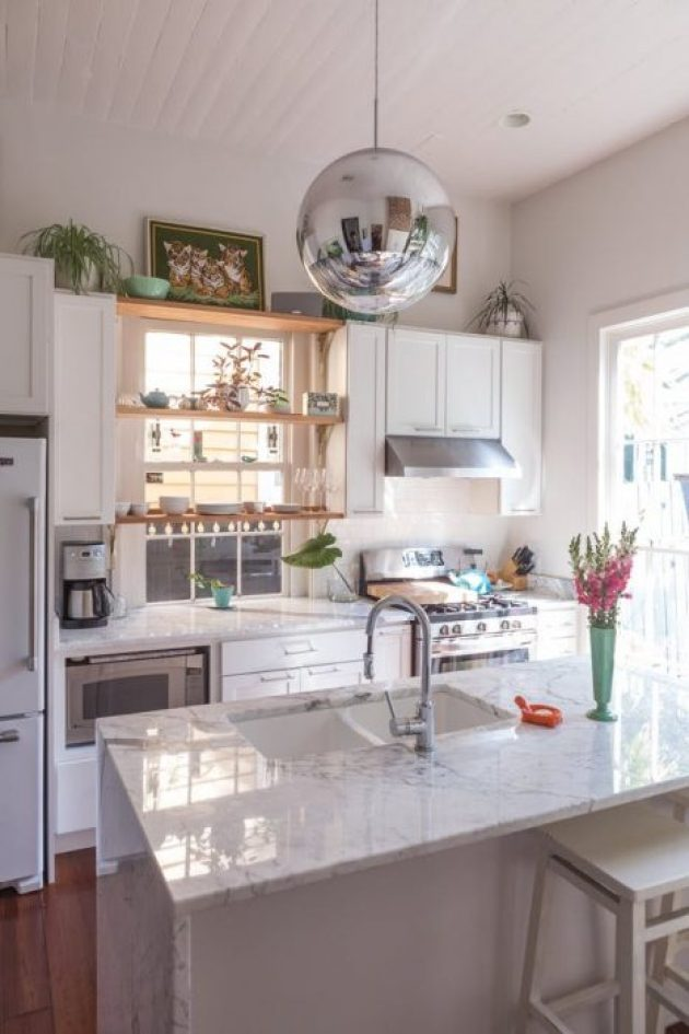 Kitchen Lighting Ideas - A Metallic Globe - Cabritonyc.com