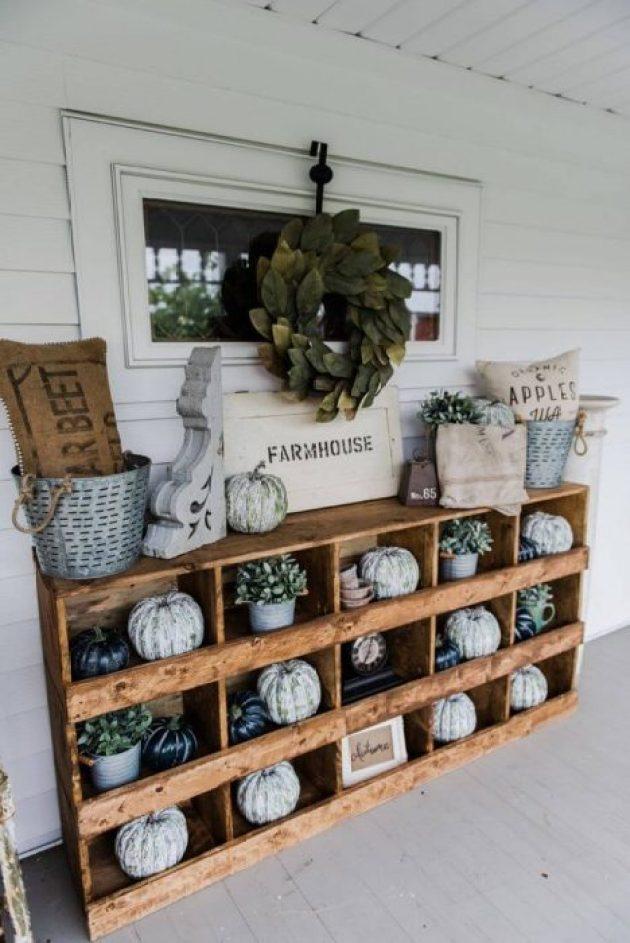 Farmhouse Porch Decorating Ideas - Farmhouse Wooden Curio Porch Cabinet - Cabritonyc.com