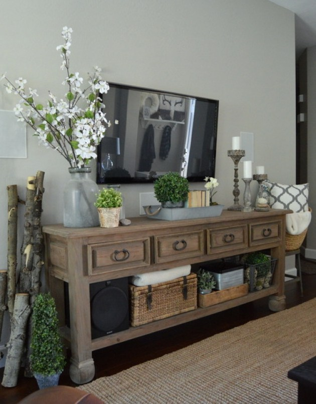 Rustic Chic Living Rooms Ideas - Forestry Decor with a Gentle Chic Touch - Cabritonyc.com