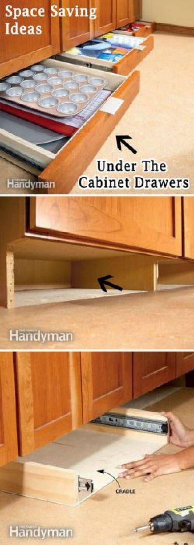 Storage Ideas for Small Spaces - Maximize the Space Beneath Kitchen Cabinets - Cabritonyc.com