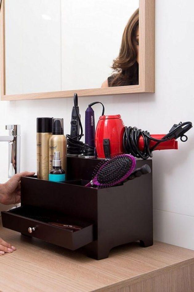 Bathroom Organizing Ideas 10 Hair Station