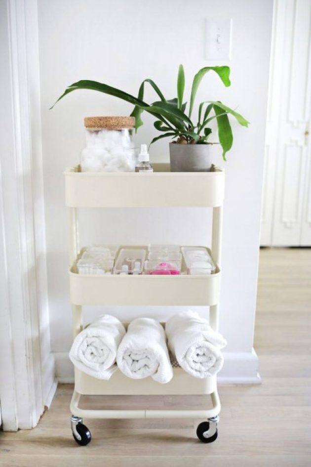 Bathroom Organizing Ideas 9 Simple Cart