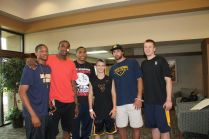 Zach-Miracle-77d-Zach-with-WVU-Basketball-Team-at-HealthSouth-2012-07-19
