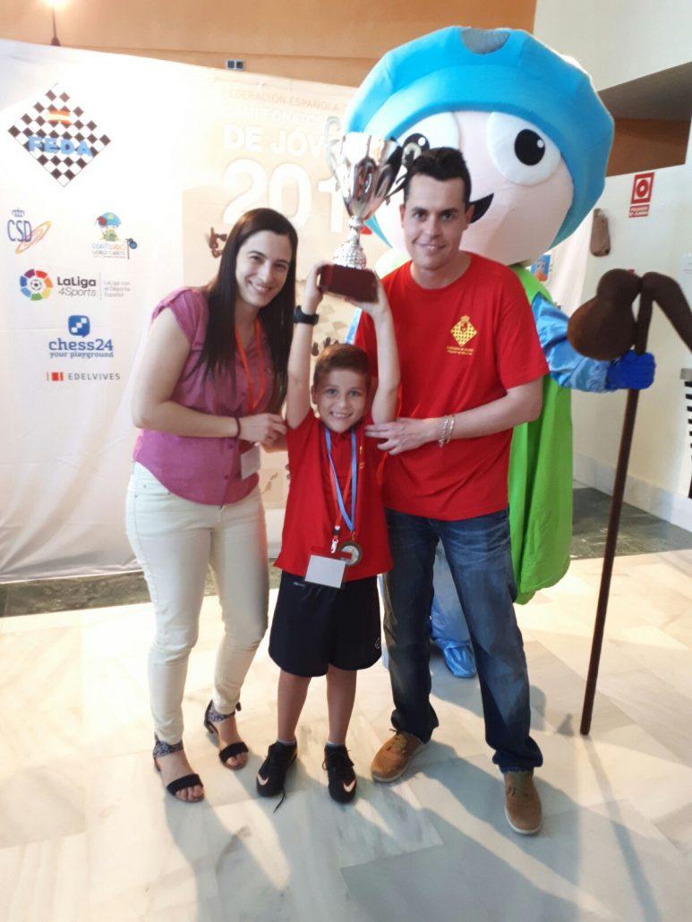 ¡¡¡Pablo Martínez Soriano se ha proclamado campeón de España Sub08!!!!