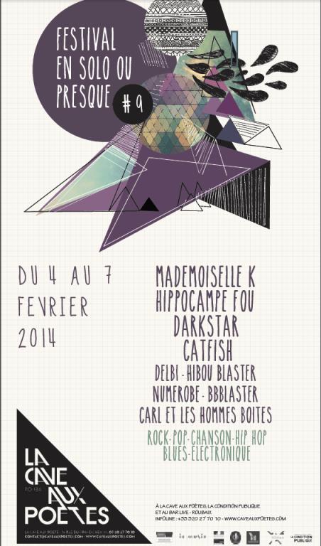 affiche festival en solo ou presque 2014 9e edition roubaix