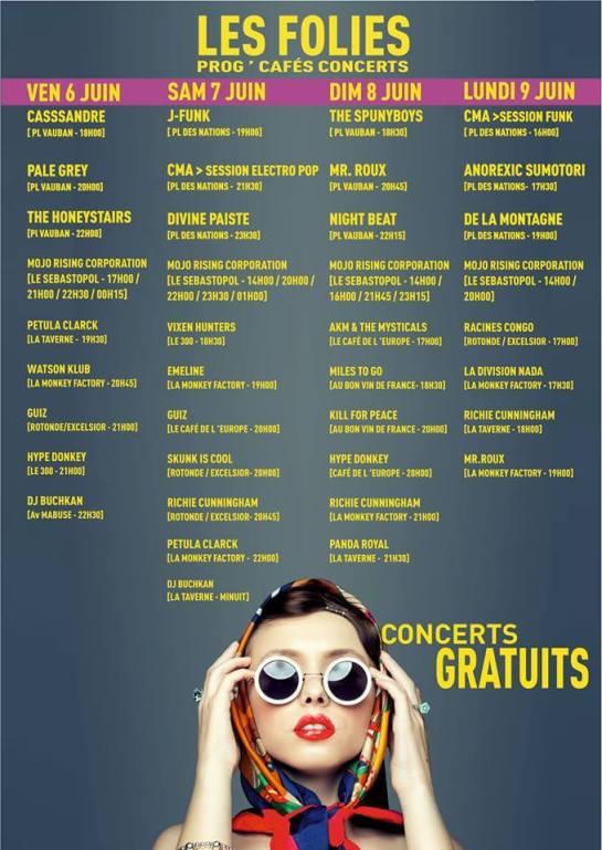 Les Folies 2014 à Maubeuge du 4 au 9 juin !
