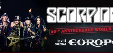 SCORPIONS et EUROPE en tournée 2015 scorpions europe 2015 tournee france