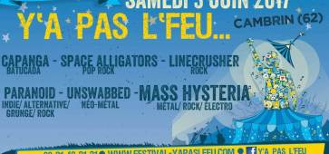 festival y'a pas l'feu 2017 4e edition space alligators cambrin 62