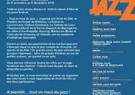 Festival Tout en Haut du Jazz : du 6 novembre au 6 décembre 2018 / Pas-de-Calais et Droit de Cité cacestculte